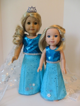 Elsa sewing patterns for dolls by oh sew kat wellie wishers and 18 inch dolls