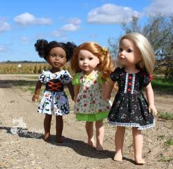 Sugar n Spice sewing pattern for welliewishers dolls by OH Sew Kat!