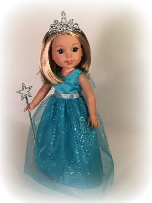 Sugar n Spice doll clothes pattern by OH Sew Kat! Welliewishers American Girl and Animators sewing patterns for doll clothes and Halloween costumes. #ohsewkat #princess #welliewishers #sewingpattern