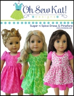 Sewing Patterns for dolls by Oh Sew Kat 18 inch animators welliewishers