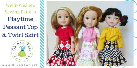 Sewing patterns for wellie wishers dolls and american girl by oh sew kat