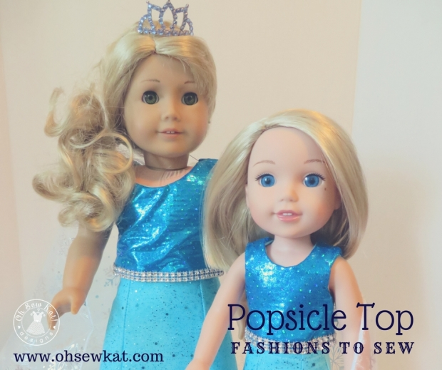 Elsa inspired doll outfit by Oh Sew Kat!