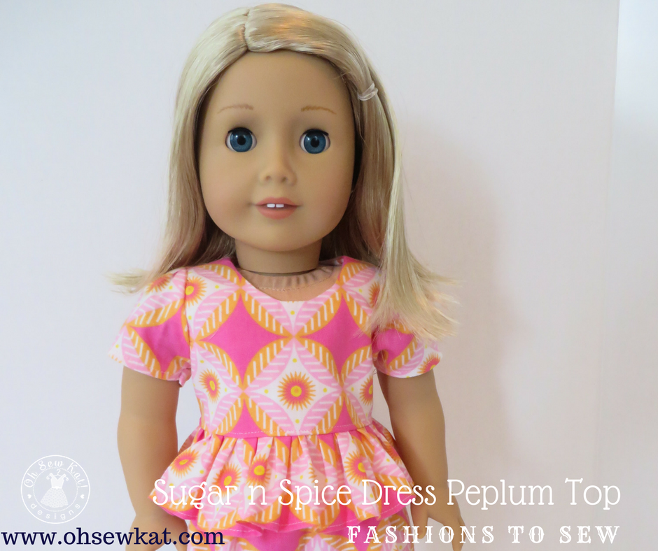 Peplum Top for dolls Tutorial by Oh Sew Kat!