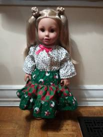 Playtime Peasant Top and Twirl skirt pattern for dolls