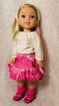 Playtime Peasant Top sewing pattern for dolls by Oh Sew kat