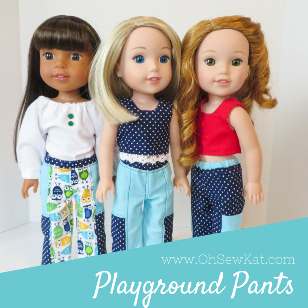 Sewing patterns for dolls American Girl Wellie Wishers Animators