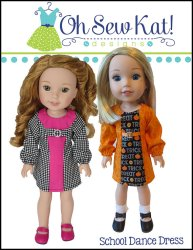 School Dance Dress for WelllieWishers dolls by Oh Sew Kat