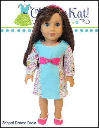 School Dance Dress pattern for 18 inch dolls by Oh Sew kat