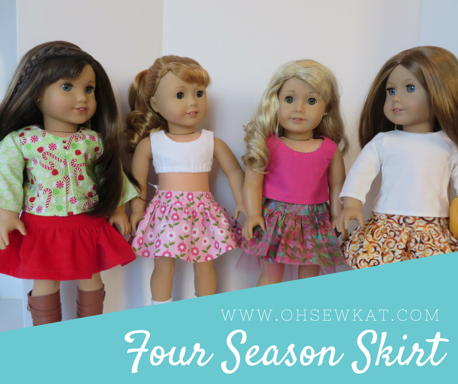 four season free skirt pattern for dolls