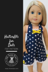 Doll Clothes Sewing Pattern Halter Alls for Dolls by Ohsewkat