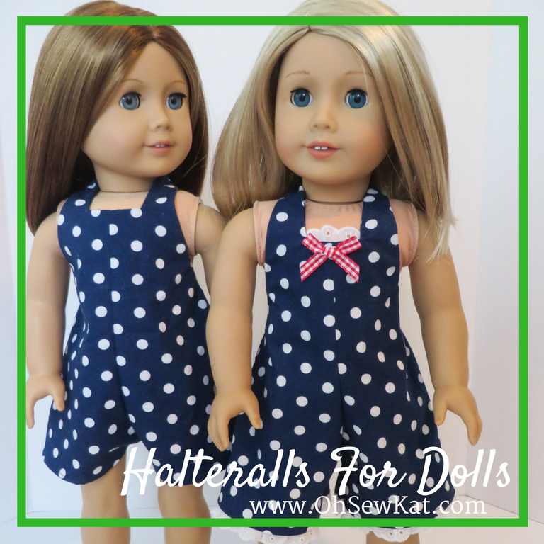 HalterAlls sewing pattern for doll clothes Oh Sew kat