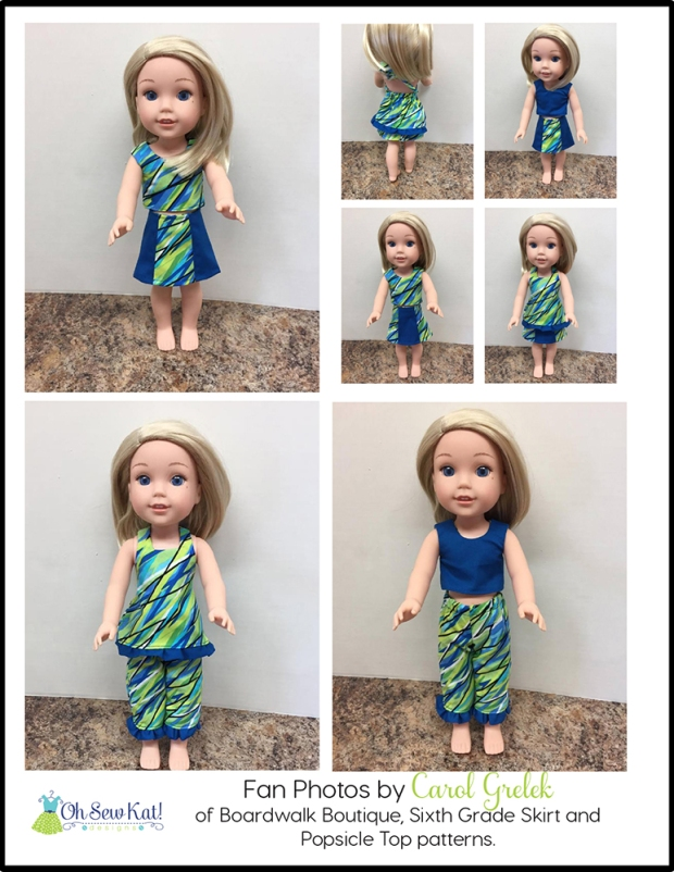 Wellie Wishers doll clothes sewing patterns