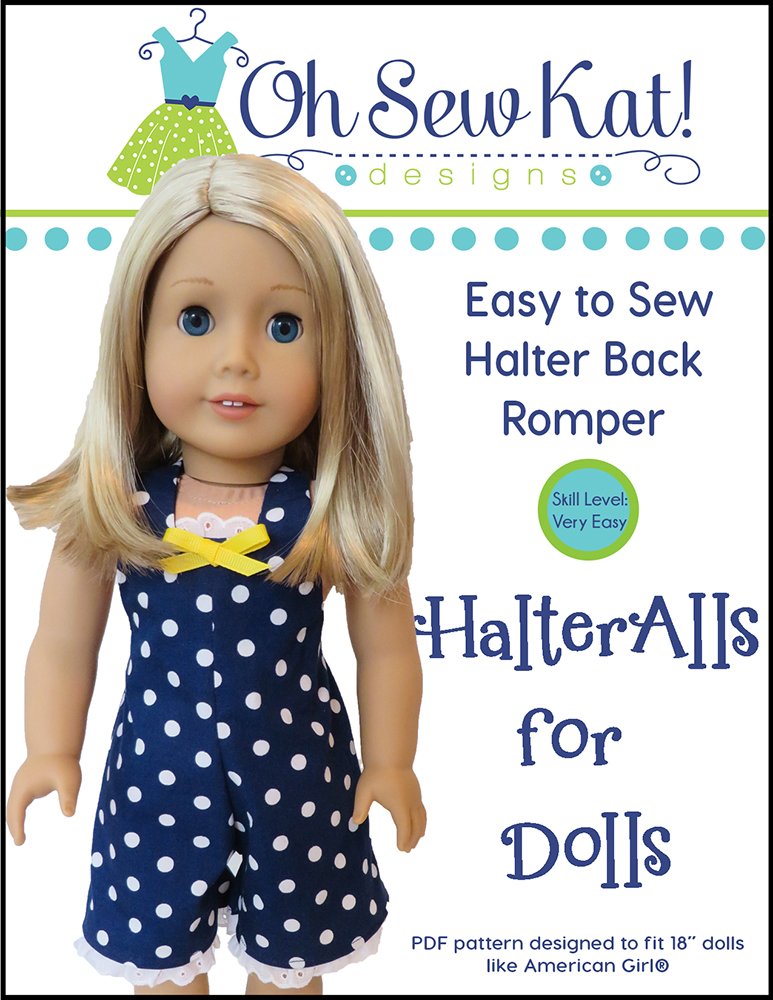 Doll Clothes Sewing Pattern HalterAlls by Oh Sew Kat