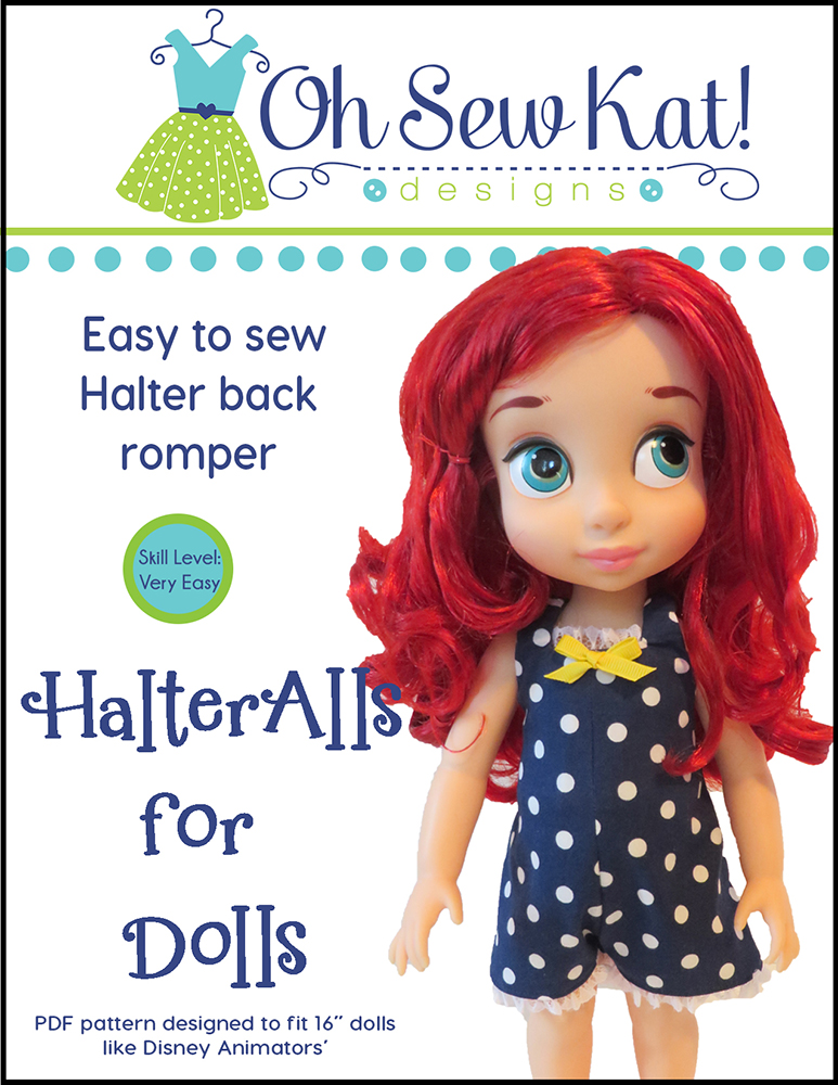 Animators sewing patterns by Oh Sew Kat HalterAlls