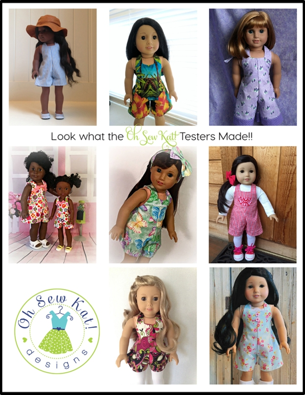 Oh Sew Kat sewing pattern for dolls