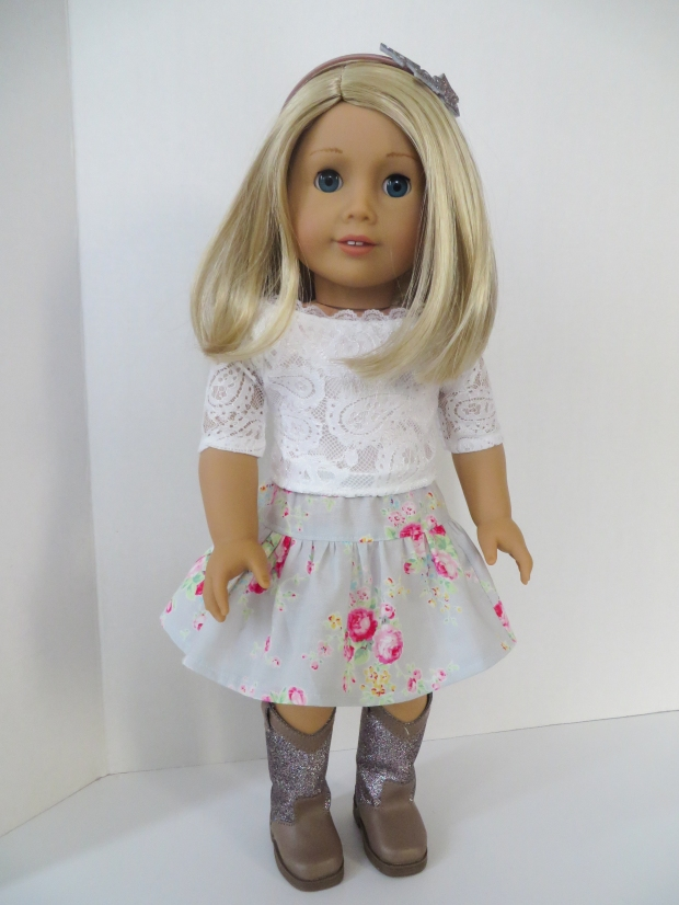 Sew doll clothes for Tenney Grant with Oh Sew kat patterns