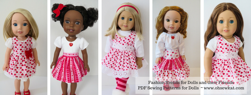Sewing patterns for american girl dolls by Oh Sew Kat on Etsy.  Find easy to sew printable patterns to download and sew today.