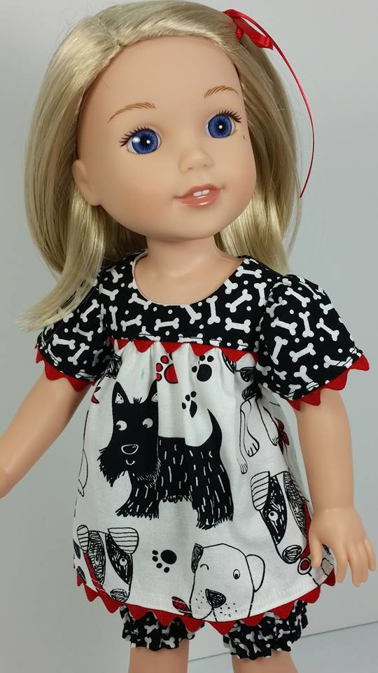Easy sewing patterns to DIY doll clothes for 18 inch dolls like American Girl, Our Generation. #ohsewkat #bloomerbuddies #sewingpattern #18inchdolls