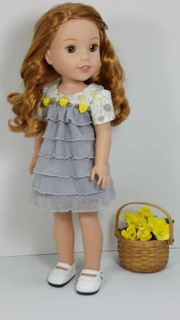 Bloomer Buddies Easy sewing pattern for WellieWishers dolls