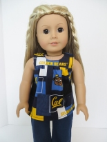 Cal Bears Doll Top by Oh Sew Kat!