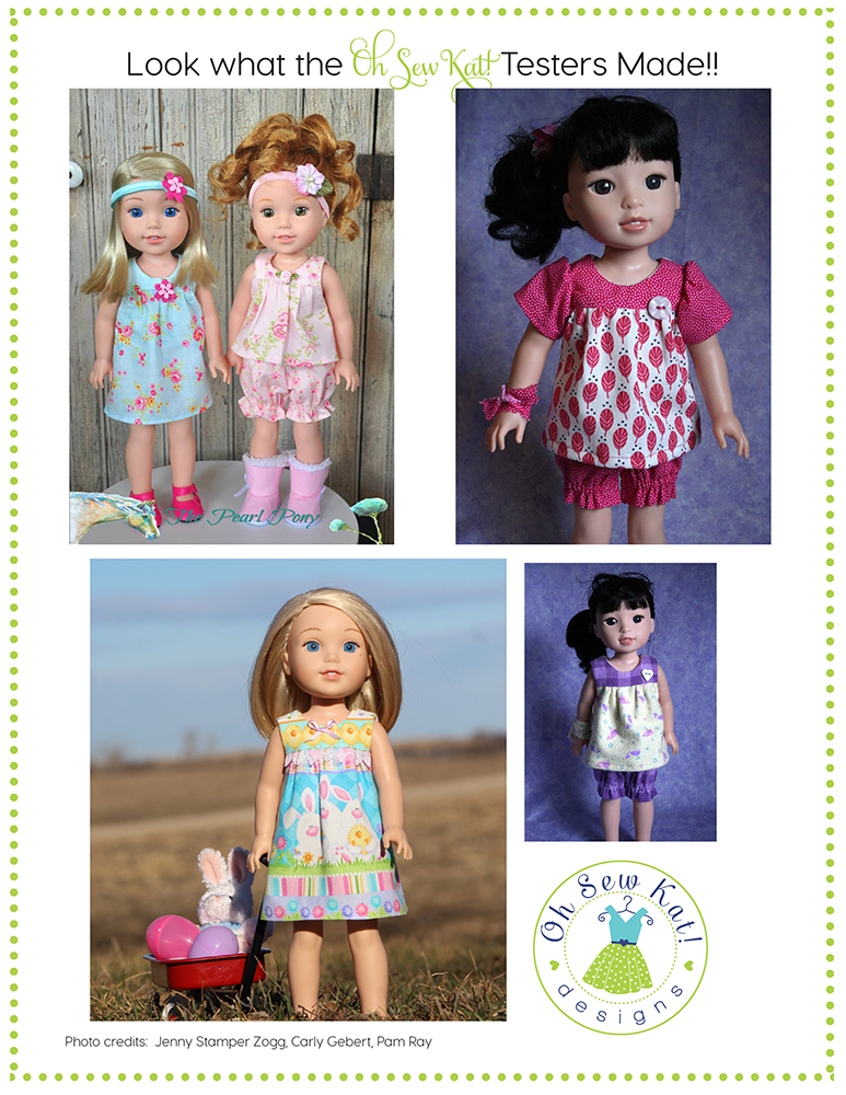 Wellie Wishers sewing patterns for dolls by ohsewkat
