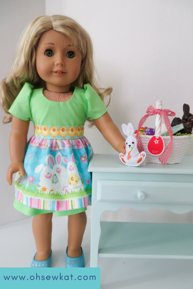 Easter Dress Sugar n spice sewing pattern for dolls (2)