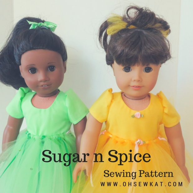 American Girl doll clothes sewing patterns by Oh Sew kat