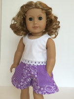 Make doll clothes for American Girl dolls! Sandbox Shorts Sewing Pattern for doll clothes by Oh Sew Kat. #easysewingpattern #dollshorts #ohsewkat #18inchdolls