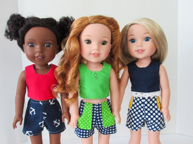 easy to sew shorts pattern for dolls