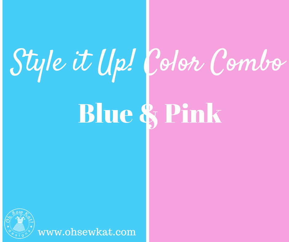 color combo blue and pink