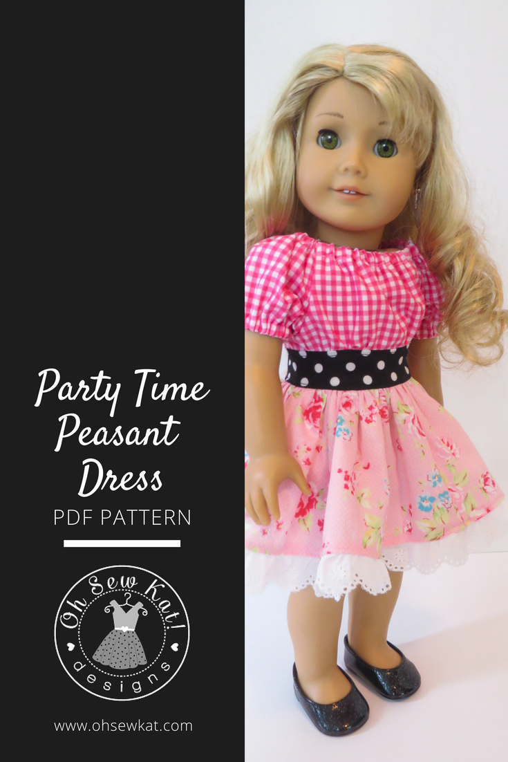 Party Time Oh Sew Kat sewing pattern for dolls