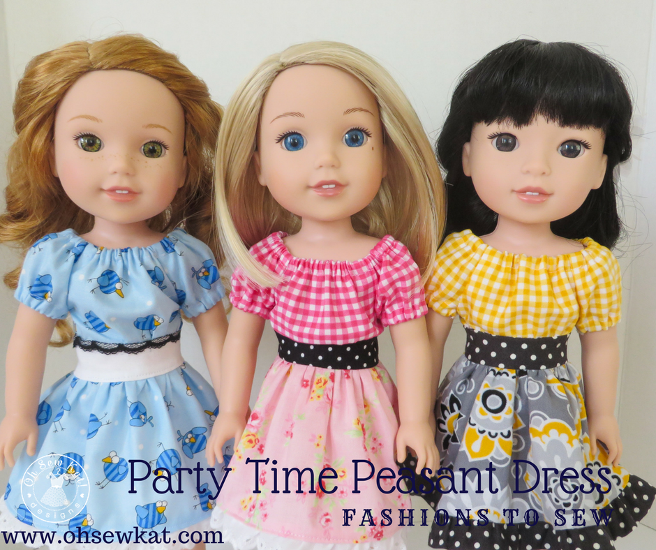 Sewing pattern for wellie wishers dolls by Oh Sew Kat!