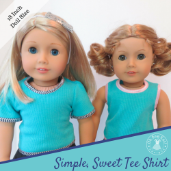 Sewing pattern for American Girl Dolls Tee Shirt