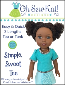 Wellie Wishers tee shirt sewing pattern by Oh Sew Kat!