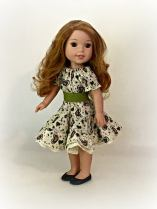 Party Dress for WellieWishers pattern by Oh Sew Kat!