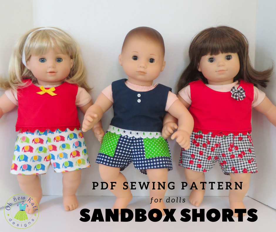 Sewing Pattern for Bitty Baby dolls