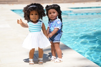 Simple Sweet Tee Shirt Pattern for dolls by Oh Sew Kat!