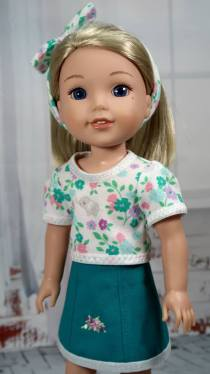 tee shirt sewing pattern for wellie wishers dolls