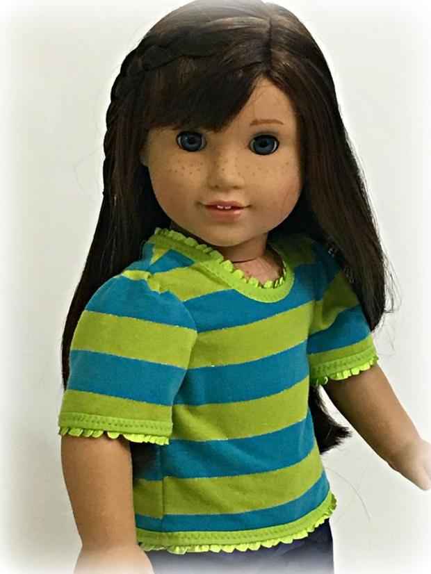 Simple Tee Shirt sewing pattern for 18 inch dolls