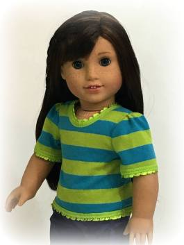 Sweet Simple Tee Shirt sewing pattern for dolls