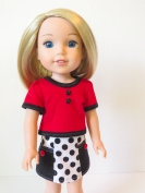 Skirt sewing pattern for dolls