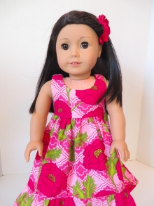 hawaiian dress tutorial for dolls like nanea by ohsewkat