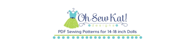 Learn to sew doll clothes with easy sewing patterns by oh sew kat! American Girl doll clothes patterns plus free skirt pattern at www.ohsewkat.com. #dollclothes #diy#sewingproject #beginner #ohsewkat
