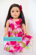 Floral hawaiian dress for dolls Oh Sew Kat! Tutorial