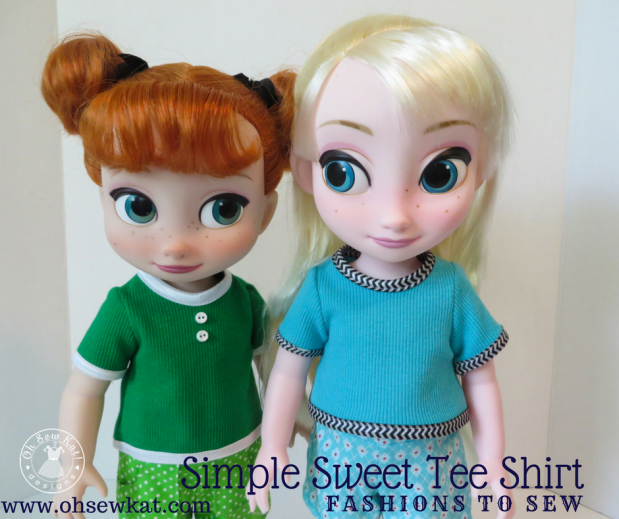 tee shirt sewing pattern for dolls