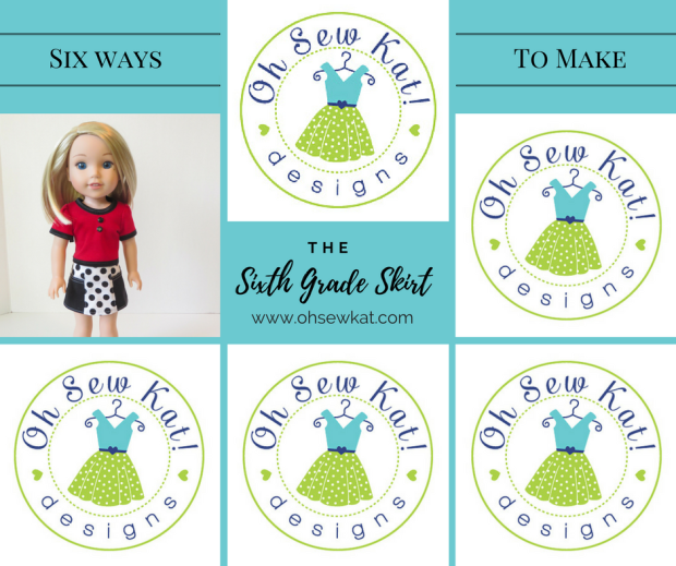Sew a Skirt Six Different Ways by OH Sew Kat!