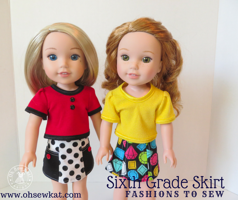 Sixth Grade Skirt Sewing Pattern for Dolls by Oh Sew Kat!