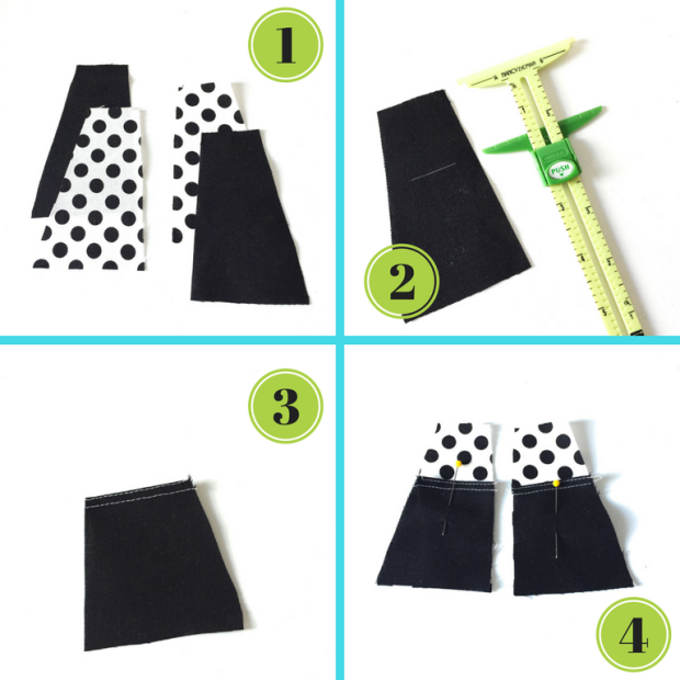 Add pockets to a skirt sewing tutorial, pattern hack by Oh Sew Kat! Find more PDF digital patterns for 18 inch dolls like American Girl and 14.5 inch dolls like Wellie WIshers. #ohsewkat #welliewishers #agdolls #18inchdolls #ourgeneration #sewingpatterns