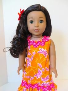 Doll sundress Hawaiian inspired doll dress