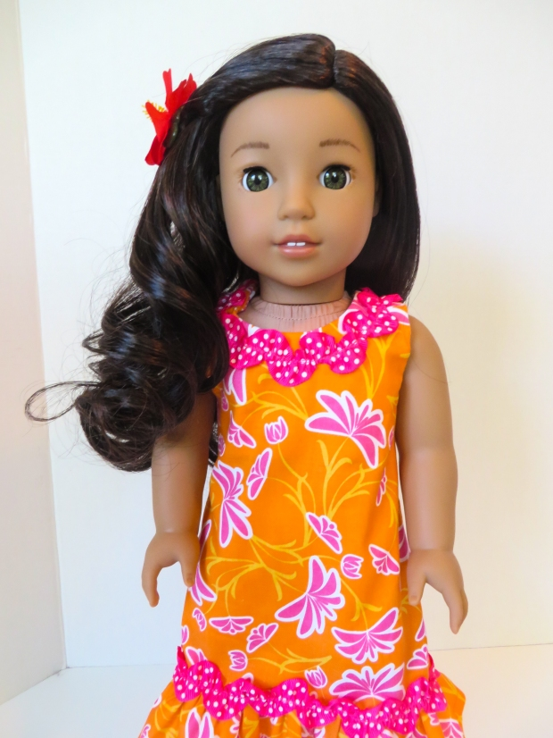 Doll sundress Hawaiian inspired doll dress